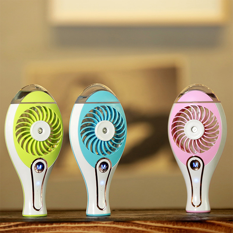 USB  Mini Protable Air Conditioner Cooler Hand Water Mist  Lovely Fan For Home Office Travel