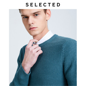 Image 5 - Geselecteerd Mannen O hals Winter Trui Pure Kleur Business Casual Knit Truien Kleding S
