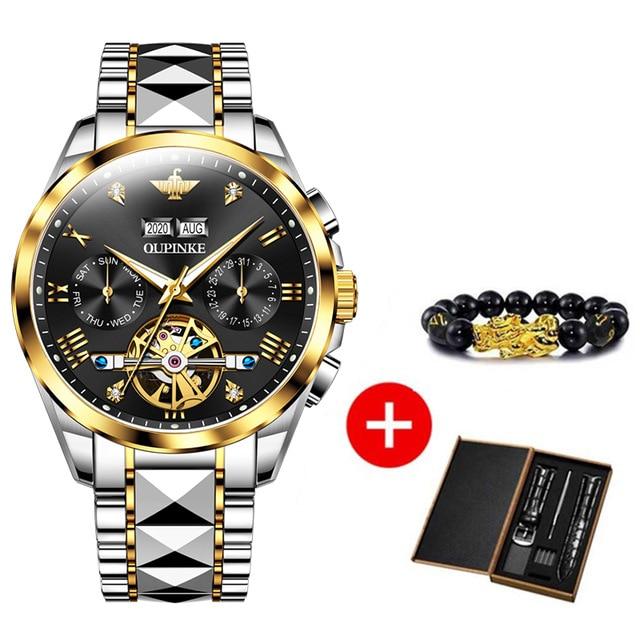 2020 Luxury Men Mechanical Wristwatch Tungsten Steel Tourbillon Watch Sapphire Glass Men Watches reloj hombre OUPINKE Brand 7