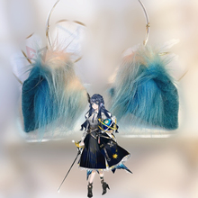 MMGG archevaliers Asteria cosplay oreilles bleu foncé cerceau pour anime lolita cosplay accessoires de déguisement travail à la main