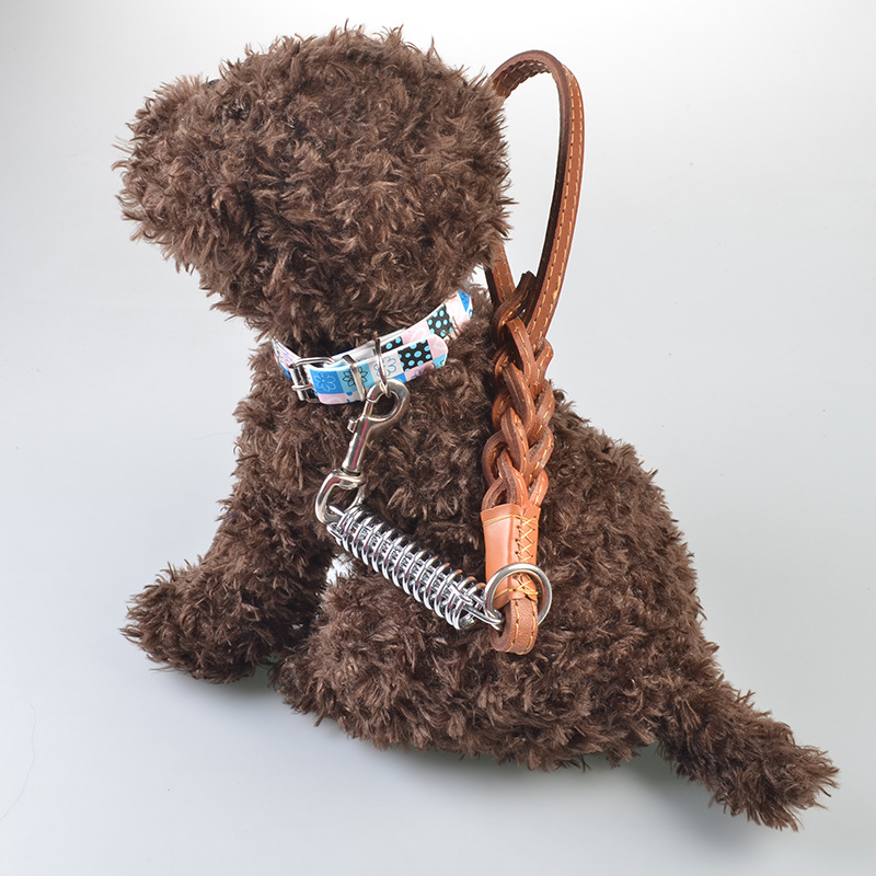 Dog Hand Holding Rope Step Distraction Short Traction Medium Large Dog Proof Punch Short Dog Chain Pet Dog Lanyard Short