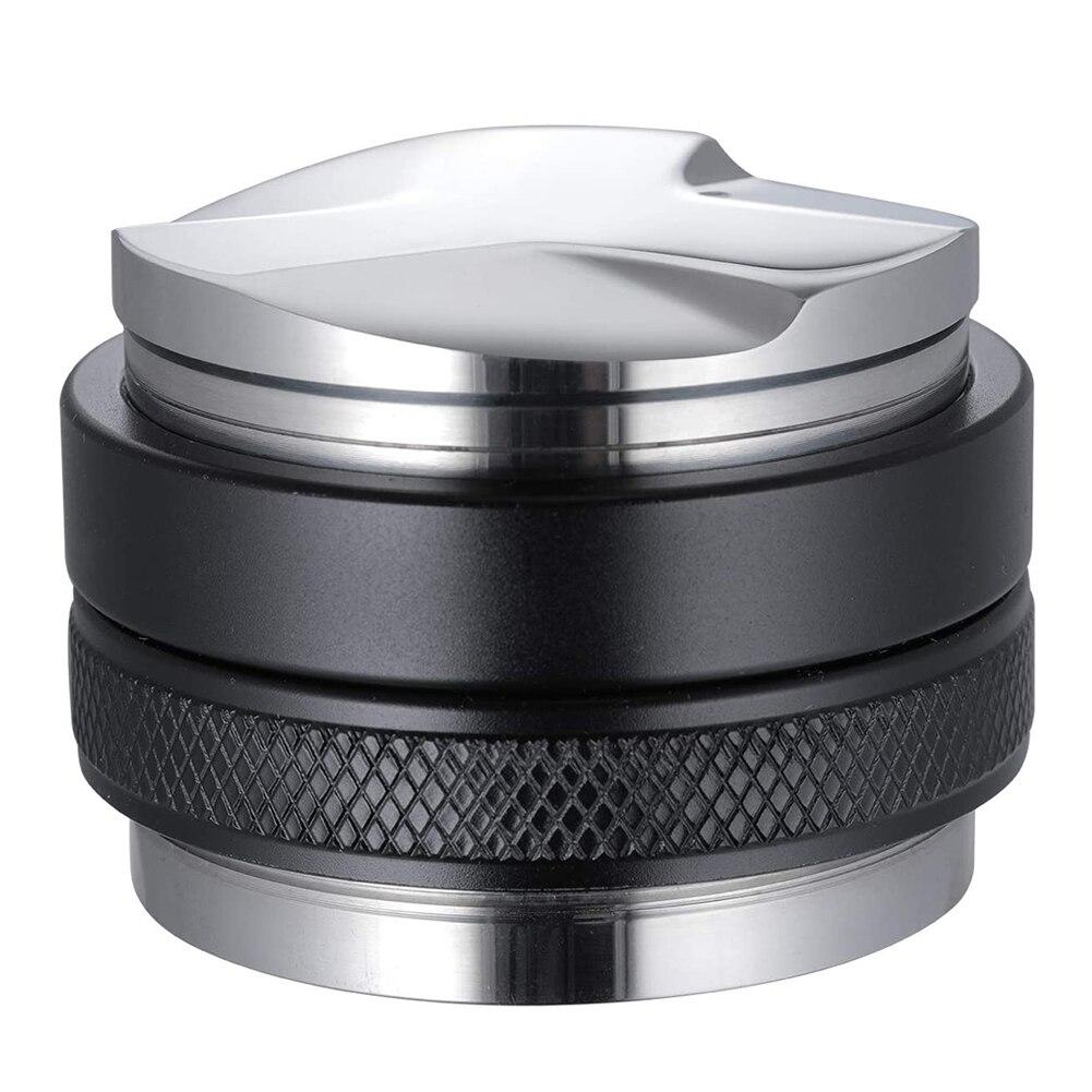 53Mm Koffie Distributeur Sabotage Dual Head Koffie Leveler Verstelbare Diepte Espresso Hand Taper Voor 54Mm Filterhouder