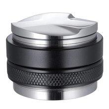 Distribuidor de café de 53mm, nivelador de café de doble cabezal, profundidad ajustable, cono manual para portafiltro de 54mm