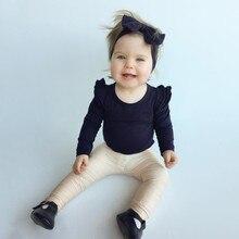 Одежда для маленьких девочек Однотонные топы, Милая футболка с длинными рукавами в форме цветов Топ для девочек