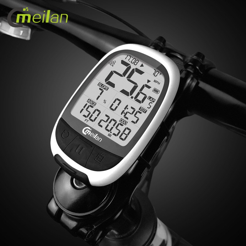 Meilan No Blue M2 GPS Bicycle Speed Meter Bicycle Computer Bluetooth ANT + Waterproof Speedometer