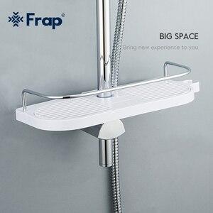 Image 5 - FRAP 욕실 선반 벽 마운트 목욕 홀더 랙 목욕 하드웨어 액세서리 욕실 교수형 스토리지 랙