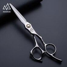 Montevr 6インチ理髪はさみボールベアリングネジプロ日本ヘアはさみサロン理髪はさみスムーズに切断