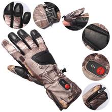 Unisex Self Heating Carbon Fiber Transfer Running Skiing Bicycling Hunting Electric Heated Gloves S32