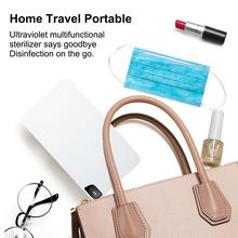 Uv Sterilizer White Key Portable Masks Disinfection Box Phone Wireless Charger Lights ABS Flip Towels Jewelry