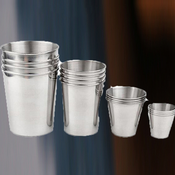 1PC Stainless Steel Cups Metal Wine Beer Coffee Soda Cokes Cup Whiskey Milk Mugs Outdoor Travel Camping Party Cup 30/70/180/320M image