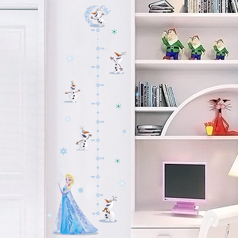 Door Anywhere for Infants Kids Children and Young Adults to Measure cm and inches Best Growth Chart Decal 0 to 7 feet DIY Peel and Stick Black /& White Backdrop Height Ruler on Wall