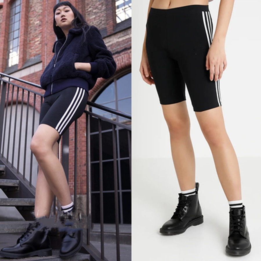 2020 Spring Women Shorts Causal Cotton High Waist Elastic Stretch Shorts For Women Black Gray Skinny Bike Shorts Female
