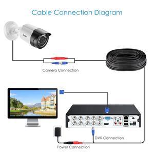"""Image 3 - ZOSI 4에서 1 CVBS AHD TVI CVI 1/2.7 """"CMOS 1080P CCTV 홈 감시 내후성 3.6mm 렌즈 IR 컷 총알 보안 카메라"""
