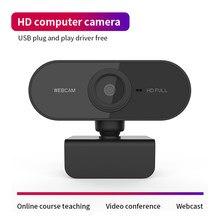 Novo hd 1080p webcam computador pc câmera web com microfone câmeras rotatable para transmissão ao vivo vídeo chamando conferência trabalho