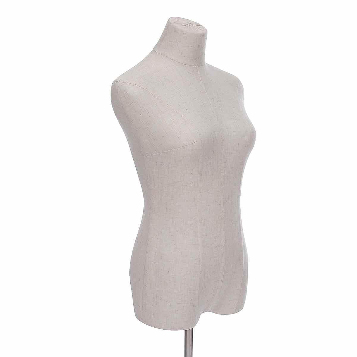 Tela de lino bien hecha vestido de tela maniquí desmontable ajustable maniquí modelo soporte accesorios para exhibición de ropa