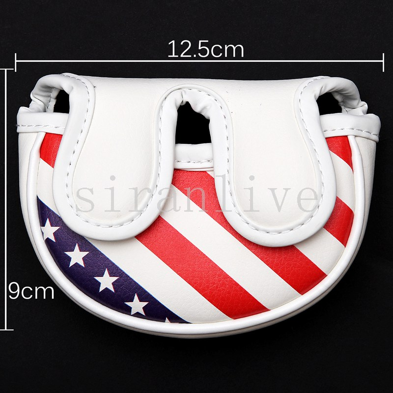 Golf Mid-mallet Headcover Putter Cover USA-flag Style For Center-shaft Or Side-shaft Putter Club