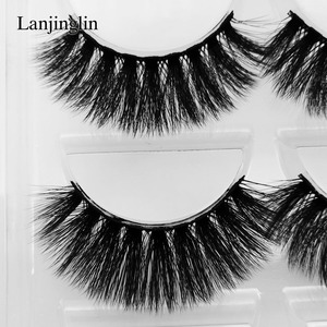 Image 2 - 5 Pairs 3D Eyelashes Hand Made Natural Long Faux Mink Lashes High Quality False Lash book Extensions Maquiagem Makeup cilios