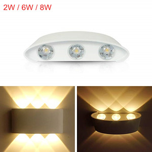 LED Wall Light Outdoor Modern Nordic style Indoor 2W 6W 8W Wall Lamps Living Room Porch Garden Lamp AC85-265V(China)