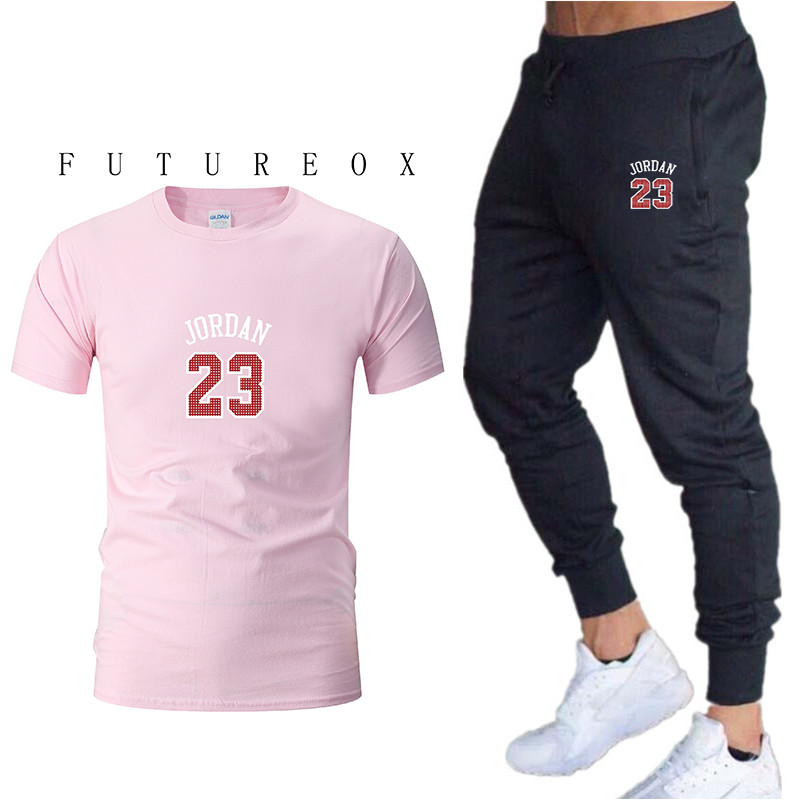 2019 New Cotton Printing Fashion Short-sleeved Suit Fitness Running Hiking Jogging Sports Short Sleeve Sleeves