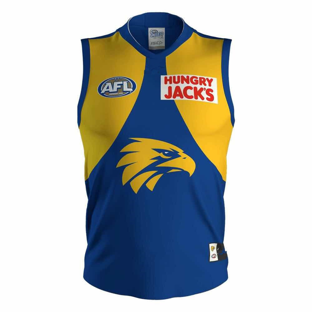 AFL WEST COAST EAGLES 2019 MEN'S HOME JERSEY size S-3XL Print custom names and numbers Top quality Free shipping(China)