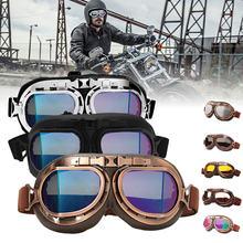 Gafas Retro para motocicleta, gafas clásicas para motociclista, gafas clásicas para piloto Steampunk ATV UTV, casco de cobre para bicicleta, multicolor