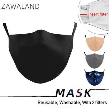 Zawaland Fashion Adult Protective Face Masks Reusable Mask Cover Washable Mouth with Black Grey Beige Blue - discount item  43% OFF Mask