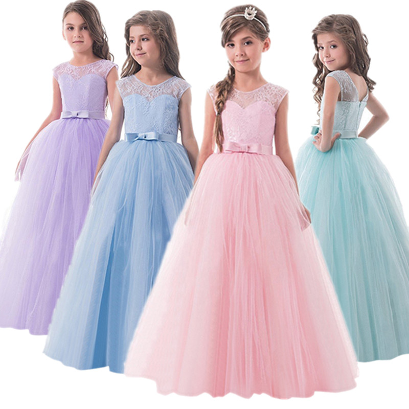 Elegant Lace Princess Girl Christmas Party Dress Wedding Gown Kids Dresses For Girls Dress Children Clothing Teens 8 12 14 Year 1