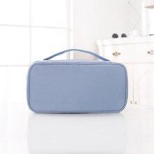 8PCS / LOT Blue Pink Underwear Organizing Bag Cosmetics Bag Handheld Bra Underwear Socks Travel Packing Bag