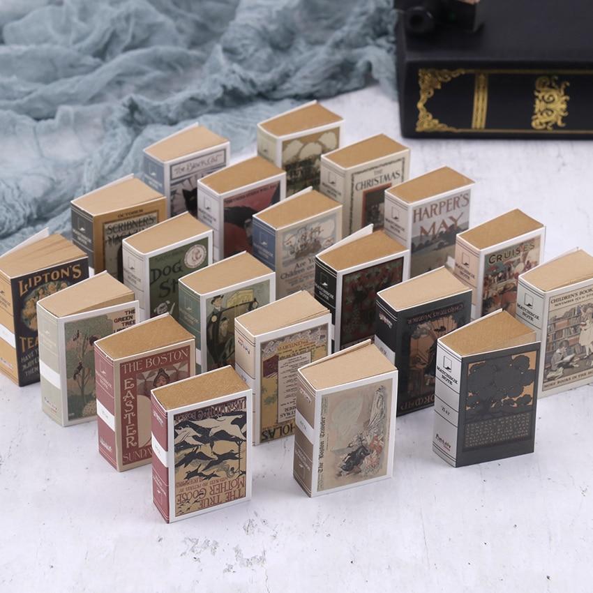 122 Sheets Matchbox Retro Mini Creative Note Paper Portable Book Shape Memo Pad Book Office School Stationery Supplies