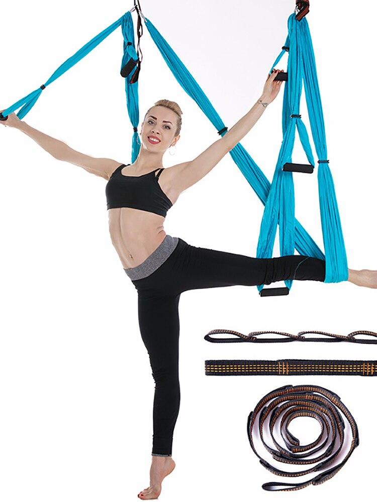 Aerial Yoga Swing Ultra Strong Antigravity Yoga Hammock Kit Sling Inversion Swing Tool for Air Yoga Inversion Exercises