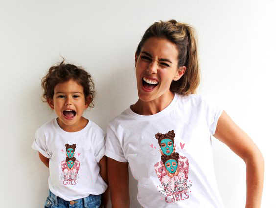 הורה-ילד התאמת תלבושת חולצה אמא ואותי t חולצה אבא וילד טי סופר אמא בתם בן tshirt גרפי 90s ווג טי