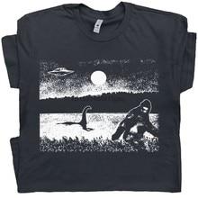 Bigfoot T Shirt T Shirt Loch Ness Monster Hemd Ufo Shirts Kühlen T Hemd Sasquatch Alien Hemd Cryptozoology Für Männer t