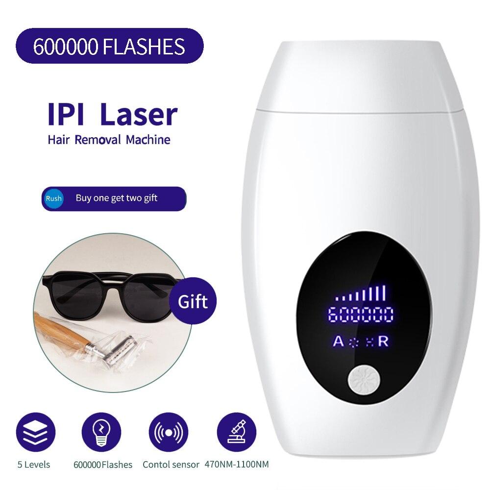 Remoção do Cabelo do Ipl do Removedor do Cabelo do Laser Depilador para o Permanente Todo o Corpo Flash Depiladora Facial Indolor Cuidados Pessoais 500000 Mod. 119114