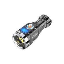 Glare Mini Flashlight Bright Outdoor Portable Rechargeable Torch Battery Aluminum Alloy Fishing Lanterna Flashlights EB50SD