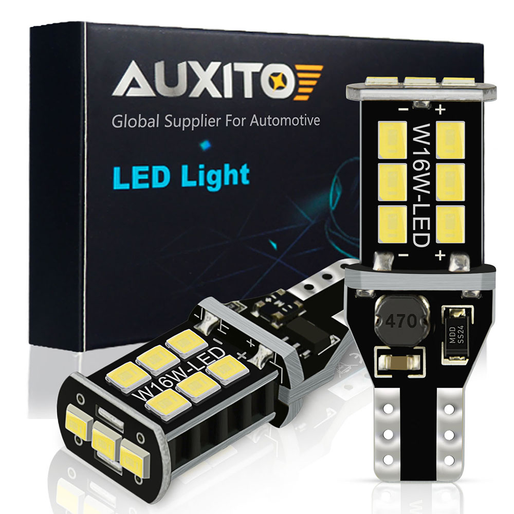 AUXITO 2Pcs Canbus 921 T15 W16W LED Bulbs Car Backup Reverse Light For BMW E60 E90 E91 Ford Fiesta Fusion Focus Mazda 3 5 6 CX-5