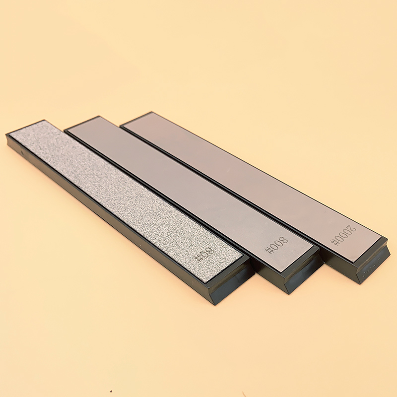 3-stück set diamant schärfen stein messer spitzer whetstone messer schärfen system klinge schärfen 80#800#2000#