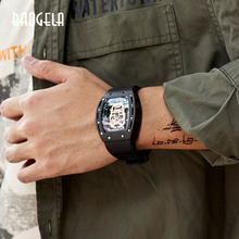 BAOGELA Neue Schädel Männer Uhren Militär Silikon Marke Pirate Hohl Uhr Männer Luminous Sport Armbanduhr Relogio Masculino
