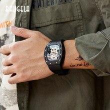 Baogela新スカルメンズ腕時計軍事シリコーンブランド海賊中空時計の男性発光スポーツ腕時計レロジオmasculino