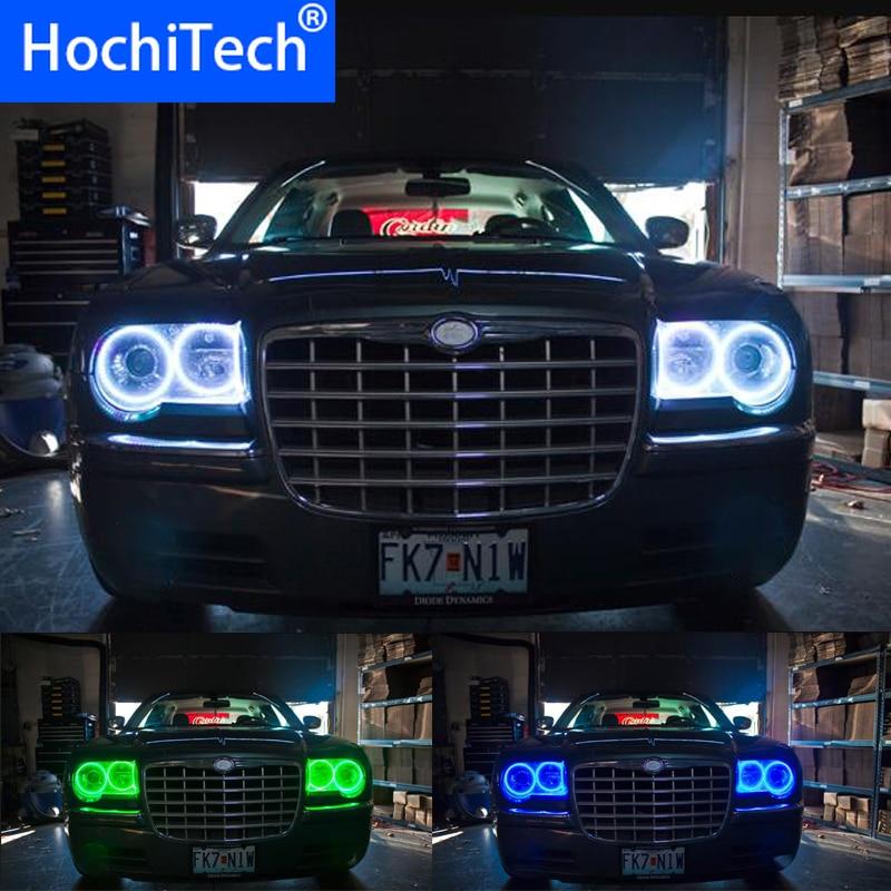 超高輝度 5050 SMD マルチカラー Rgb Led 天使の目キットとリモコンクライスラー 300C 2004 2005 2007 2008 2009 2010