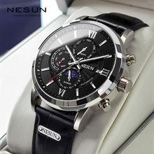 Автоматические механические мужские часы nesun роскошные брендовые