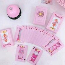 Juego de 54 hojas/caja de cartas de Anime, Captor de cartas de póker Sakura, colección de personajes de cómics, juguetes para regalos para chico y chica