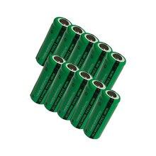 10 pièces 2/3 aaa batterie 400 mah 1.2 v nimh 2 3 piles aaa rechargeables dessus plat pour la lumière solaire jouets