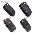Чехол OkeyTech flip key корпус автомобильного ключа дистанционного управления для VW Volkswagen sharan Multivan T5, хорошее качество, 5 кнопок, чехол для автомоби...