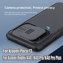 Nillkin-funda protectora para Xiaomi Redmi K40 Poco F3, carcasa de lente clásica, CamShield Pro, Redmi K40 Pro + Plus