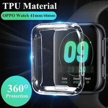 Soft TPU Protector Cover 41mm For OPPO Watch 46mm Clear Screen Cover For OPPO Watch 41mm 46mm Full Coverage Protection