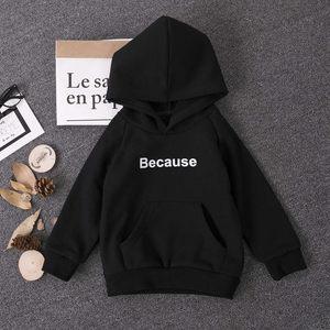 Image 3 - אופנה ילדים נים לבן/שחור חולצות מעיל כותנה בני הסווטשרט מכתב בגלל הדפסת סווטשירט ילדה בית ספר בגיל ההתבגרות בגדי 2 18Y