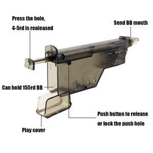 Image 2 - Airsoft BB מהירות מטעין מהיר שחרור 155 סיבובים פיינטבול מטעין טקטי מלחמת משחק BB כדורי מטעין ירי אבזרים
