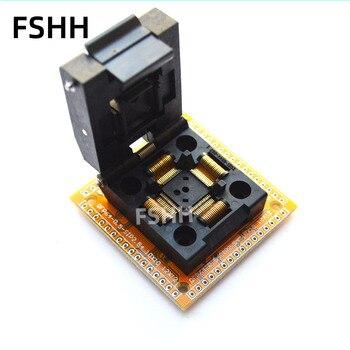 цена TQFP64 LQFP64 QFP64 test socket IC51-0644-807 socket with PCB QFP64 0.5mm to SIP 2.54mm socket adapter онлайн в 2017 году