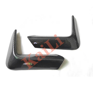 Image 2 - 1Pair Car Rear Bumper Lip Splitter Diffuser Lower Corner Cover Trim Spoiler For BMW F80 M3 F82 F83 M4 2015 2018 Real Carbon