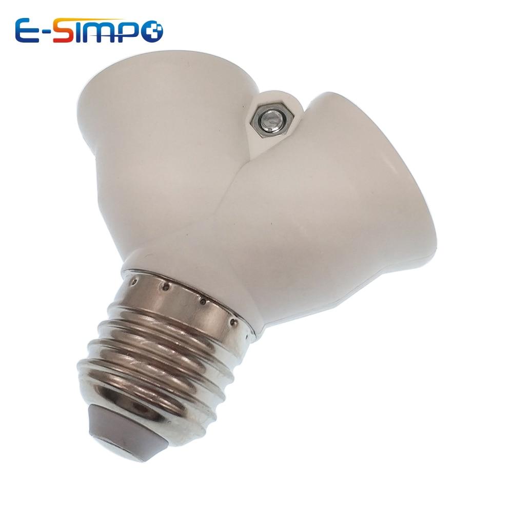 2 в 1 E27/B22 к 2E27 удлинитель цоколь Адаптер сплиттер 1E27 к 2E27 держатель лампы конвертер CE Rohs